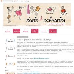 Ecole et Cabrioles, une école Montessori à la maison : Boîtes de grammaire : les fichiers à télécharger