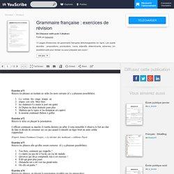 Grammaire française : exercices de révision - Classeur outil cycle 3 - Révisions