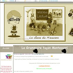 La Grammaire façon Montessori