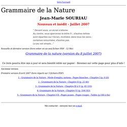 Grammaire de la Nature