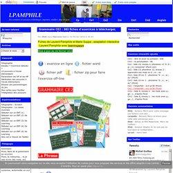 Grammaire CE2 : 383 fiches d'exercices à télécharger, imprimer ou faire en ligne