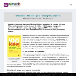 Grammaire : 100 idées pour l'enseigner autrement - VousNousIls