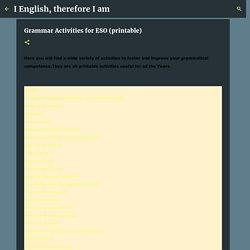 Grammar Activities for ESO (printable)