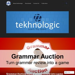 Grammar Auction: Turn grammar review into a game – tekhnologic