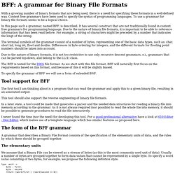 BFF: A grammar for Binary File Formats