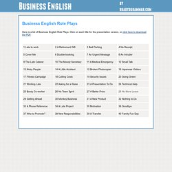 Road to Grammar Business English - 40 Business English Role Plays