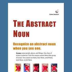 The Abstract Noun