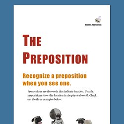 The Preposition