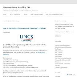 Common Sense Teaching ESL