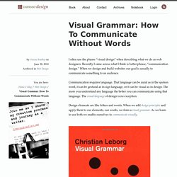 Visual Grammar: How To Communicate Without Words