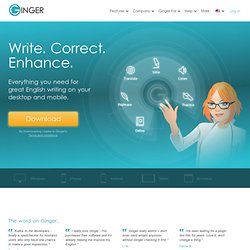 Grammar and spell checker for better English communication