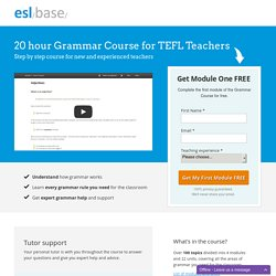 Grammar Course for TEFL Teachers