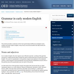 Grammar in early modern English