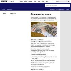 Grammar for news - BBC Academy