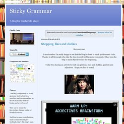 Sticky Grammar: Functional language