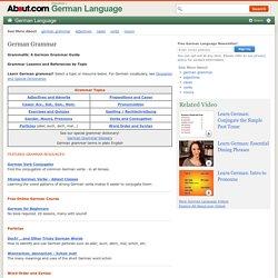 German Grammar by Topic - Grammatik - German Lessons