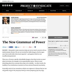 The New Grammar of Power - Javier Solana and Daniel Innerarity - Project Syndicate