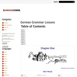 German Grammar Lessons