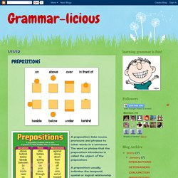 Grammar-licious: PREPOSITIONS