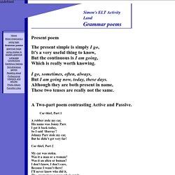 Grammar poems