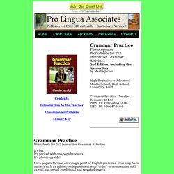 Grammar Practice - Pro Lingua Associates
