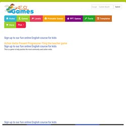 Action Verbs Present Progressive Game