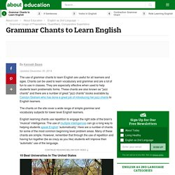 Grammar Chants for ESL