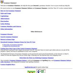 English Grammar Resource