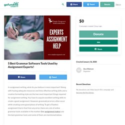 5 Best Grammar Software Tools Used by Assignment Experts!