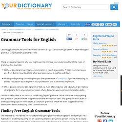 Grammar Tools for English