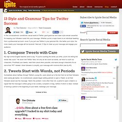 13 Style and Grammar Tips for Twitter Success