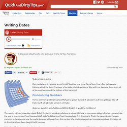 Writing Dates