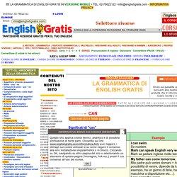 Grammatica di English Gratis: Can