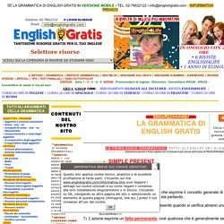 Grammatica di English Gratis: Simple present