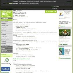 Maken of doen? - grammatica Nederlands - Zinsbouw