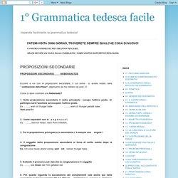 1° Grammatica tedesca facile: PROPOSIZIONI SECONDARIE