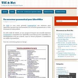 Un correcteur grammatical pour LibreOffice