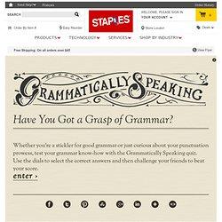 Grammatically Speaking