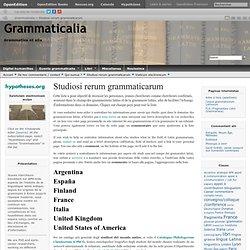 Studiosi rerum grammaticarum