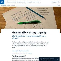 Grammatik - ett nytt grepp · Mia Smith
