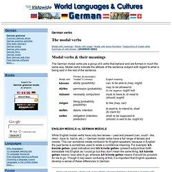 German Grammar: The modal verbs - Grammatik der deutschen Sprache: Modalverben