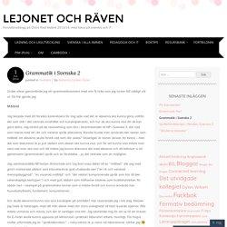 Grammatik i Svenska 2