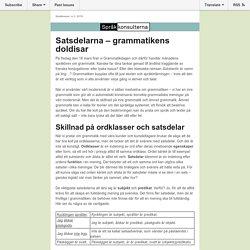 Lär känna grammatikens doldisar - Språkbrevet nr 3, 2016