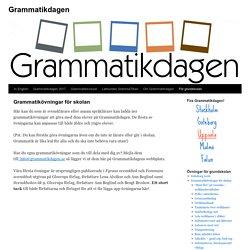 Grammatikövningar för skolan