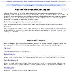 Grammatikübungen - Deutsch online lernen