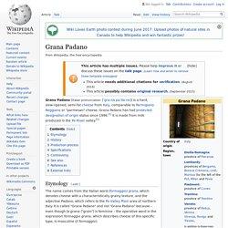 Grana Padano - Wikipedia
