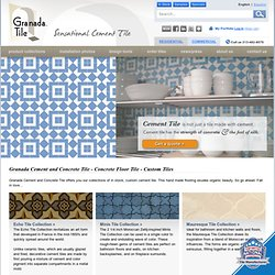 Granada Cement and Concrete Tile - Concrete Floor Tile - Custom Tiles