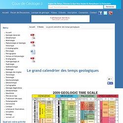 Le grand calendrier des temps geologiques