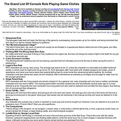 The Grand List of Console Role Playing Game Cliches