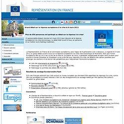 Grand débat sur la réponse européenne à la crise le 6 mars 2012